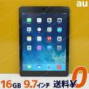 Apple AU ipad Air 本体 Wi-Fi CellulariOS 7.1.2(11D257)16GB【MD791JA/A】Model A1475 スペースグレイ【中古】【送料無料】