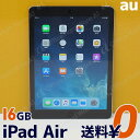 Apple AU ipad Air 本体 Wi-Fi CellulariOS 11.3.1(15E302)16GB【MD791JA/A】Model A1475 スペースグレイ【中古】【送料無料】