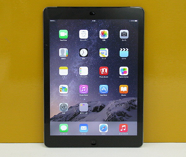 Apple AU ipad Air 本体 Wi-Fi CellulariOS 8.1.2(12B440)16GB【MD791JA/A】Model A1475 スペースグレイ【中古】【送料無料】