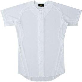 ゼット ZETT 野球 練習着 メッシュユニフォーム メッシュシャツ メカパンライト ユニホームシャツ 野球メッシュフルオープンシャツ ウエア 練習着 シャツ BU1081MS 1100 ホワイト
