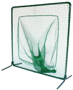 ティーバッティングネット 一式 硬式用 軟式用 2m×2m 重要個所は強固な溶接加工仕上げ ティーバッティング用 野球 練習