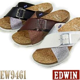 エドウィン レディース サンダル EDWIN コンフォートカジュアル クロスストラップ 【ED9461】