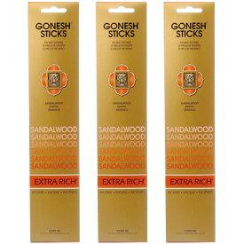 ガーネッシュ サンダルウッド GONESH お香 スティック インセンス 3個セット 60本 リラックス 癒し グッズ 香り 芳香 匂い ネコポス