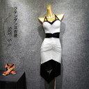 送料無料 ラテンドレス ホルターネックドレス 社交ダンス衣装 モダンドレス スタンダードドレス ワルツダンス ミニー…