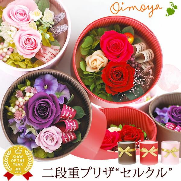 誕生日プレゼント 送料無料 花 プリザーブドフラワー [セルクル] 花とスイーツセット お菓子 お祝い お礼 AB