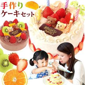 誕生日ケーキ 手作りケーキ 手作りキット スイーツ チョコレートケーキ ママと作ろう 【静岡 5号 AA】