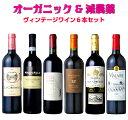 ワイン オーガニックワイン ワインセット セット 送料無料 オーガニック 自然派ワイン 赤ワイン 赤 お歳暮 飲み比べセット 飲み比べ 家飲み ソムリエ ベストセレクション 20年以上前のワイン含むすべてが『ヴィンテージ』辛口赤6本セット !!