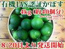 大分県産 無農薬・無添加 A級品有機かぼす4kg 【かぼす】 かぼす青果