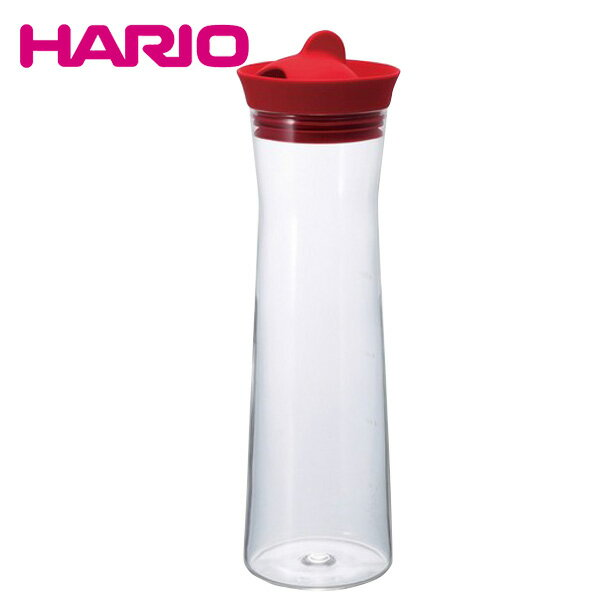 ハリオ HARIO ウォータージャグ 1000ml (レッド) WJ-10-R 日本製