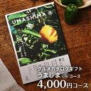 グルメカタログギフト うましま umashima 風コース 4000円 (引き出物 カタログギフト 出産内祝い 香典返し 快気祝い お祝い ギフトカタ…