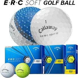 【2021年モデル】【キャロウェイ】 E・R・C SOFT TRIPLE TRACK イーアールシー ソフト トリプル・トラック ホワイト/イエロー Golf Ball/ゴルフ ボール 1ダース(12個入り)【Callaway】【日本正規品】【送料無料】
