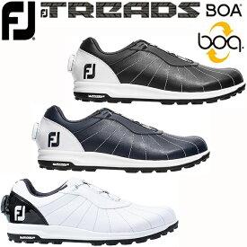 【2019年モデル】【フットジョイ】FJ TREADS BOAMEN'S GOLF SHOES トレッド ボア メンズ ゴルフシューズ56213/56214/56215:3色 【7サイズ:24.5〜27.5cm/ウィズ:W】【FOOTJOY】【日本正規品】