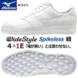 【2020年モデル】【ミズノ】ワイドスタイル スパイクレス シューズWide Style Spikeless SHOES51GQ2045/White/ホワイト24.5〜27.0、28.0、29.0cm幅広:4+1E(F相当の方向け)/メンズ【MIZUNO】【日本正規品】【送料無料】