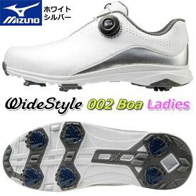 【2020年モデル】【ミズノ】ワイドスタイル 002 ボアレディース シューズWide Style 002 BOA Ladies SHOES/51GW2040White×Silver/ホワイト×シルバー22.5〜24.5cm幅広:4E(F相当の方向け)【MIZUNO】【日本正規品】【送料無料】