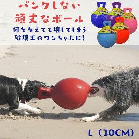 Jolly Pets (L/20cm) Tug & Toss(タグ&トス) 壊れない 犬用 ボール パンク知らず おもちゃ ジョリーペット 丈夫 弾む