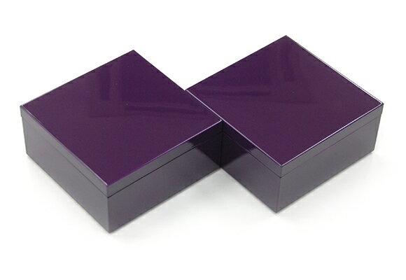 3.5寸マス重 江戸紫 2個セット【2014グッドデザインアワード受賞】