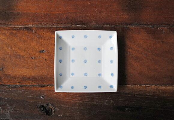 3号角皿 染豆絞り