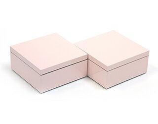 3.5寸マス重 薄桜 2個セット【ミニ重箱】【2014グッドデザインアワード受賞】