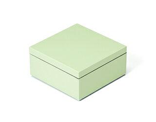 3.5寸マス重 白緑【ミニ重箱】【2014グッドデザインアワード受賞】【雛祭り】