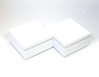 3.5寸マス重 鉛白 2個セット 【ミニ重箱】