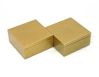 3.5寸マス重 琥珀 2個セット【ミニ重箱】