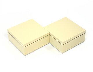 3.5寸マス重 絹白 2個セット【ミニ重箱】