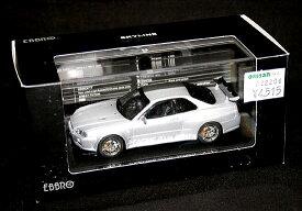1/43 EBBROエブロ 【ニッサン スカイライン GT-R R34 Vスペック2(シルバー)】44150/MMPエムエムピー