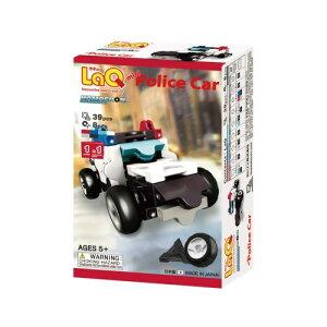 パズルタイプのブロック LaQ ラキュー【ハマクロンコンストラクター ミニ パトカー】/ヨシリツ★日本製