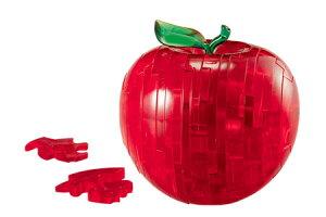 透明ピースを組み上げる立体ジグソーパズル【クリスタルパズル 44ピース アップル】50071