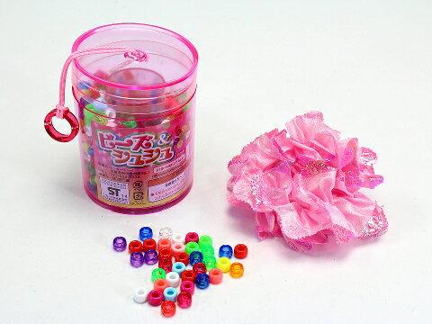 ビーズ 【ビーズ&シュシュ (ピンク)】辰巳屋