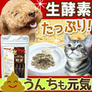 犬 猫 いのちの酵素(粉末50g) 便秘 下痢 口臭 に/消化酵素 無添加 ペット酵素 ペットサプリ/ペットフード に ふりかけ/犬 猫 食事療法 をする時に/ペット サプリメント 国産