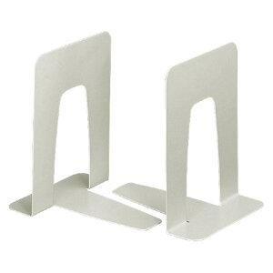 コクヨ ブックエンド 中 ライトグレー 2枚組 メーカー品番:BS-33NM サイズ:W130xD156xH170mm 底面すべり止め付き 材質:鋼板(メラミン焼付塗装)