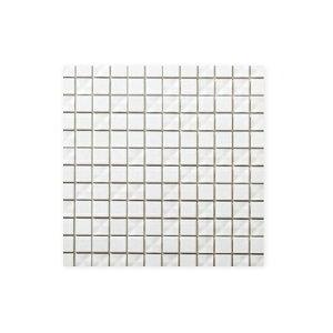 送料無料 TChic SWAN TILE タイル建材 屋内壁用 インテリアタイル Cross shine(クロスシャイン) 25mm角平 CRS-20 白マット