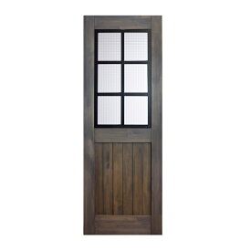 LOHAS material 無垢建具 室内ドア アイアンシリーズ ID03 パイン 無塗装 扉 自然素材 木製 戸 特注 インテリア インダストリアル 鉄 オーダー デザイン 格子