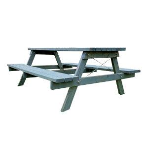 完成サイズW1400×D1500 自然オイル塗装 Picnic Table ピクニックテーブル AP-1415-T〇〇 秋田杉 OK-DEPOT material 組立 DIY テーブルセット プレカット済