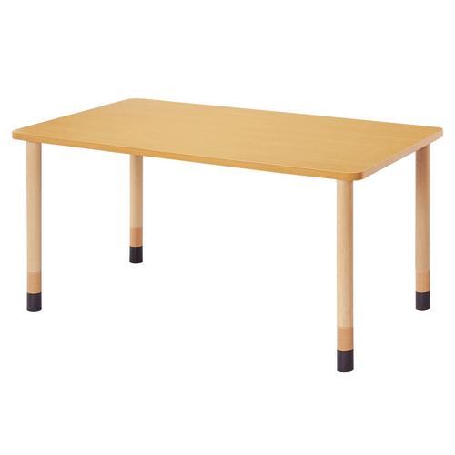 福祉施設用テーブル 高さ調節式 角型 幅1600×奥行900×高さ660,700,740mm [FPA-1690K]