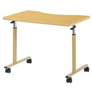 車椅子用テーブル ラチェット式高さ調節 幅900×奥行600×高さ640-940mm 【WFM-0960Q】