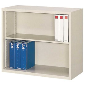 A4対応 オープン書庫 W880×D400×H750mm 送料別 法人様限定商品 [FO40-G7]