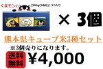 熊本県産キューブ米3種セット