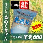 熊本県産森のくまさん無洗米5kg