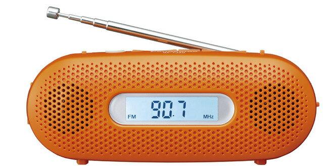 AM FMラジオ 手回し充電 パナソニック RF-TJ20-D オレンジ