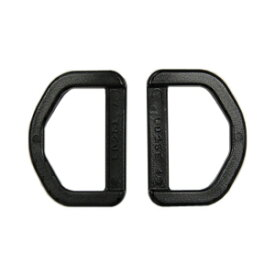 YKK プラスチックパーツ Dカン(LD25) 25mm幅テープ用 黒 2個入 (B)_4a_