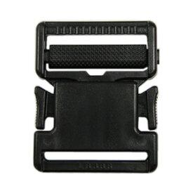 YKK プラスチックパーツ 差し込みバックル(LB38) 38mm幅テープ用 黒 1個入 (B)_4a_