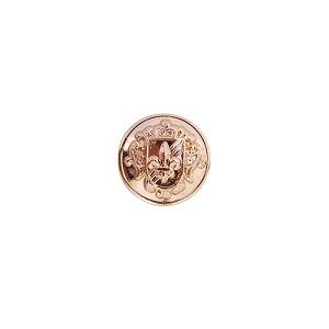 紋章メタルボタン 百合と盾(MA2266F) 15mm PIG.ピンクゴールド (H)_6a_