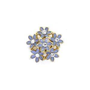 ボタン エナメルフラワーブーケボタン (15226) 19mm  85.青紫 (H)_6a_