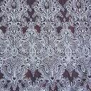 生地 クリンプレース(190043) 3.KW/S 白地×シルバー刺繍 k2