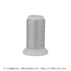 ロックミシン糸 メタリックウーリーナイロン 122Dtex/2 500m巻 色番Mー307.白×シルバーラメ (H)_6b_