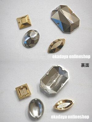 縫いつけメタルパーツ8角形(GAG50014-13)LG.ゴールド3b