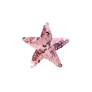 スパンコールモチーフ星型<小>(M867)アイロン接着31.ピンク4b
