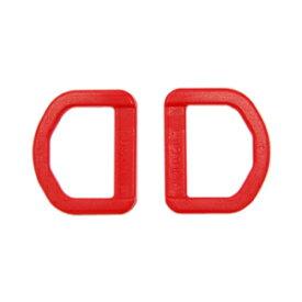 YKK プラスチックパーツ Dカン(LD20) 20mm幅テープ用 赤 2個入 (B)_4a_